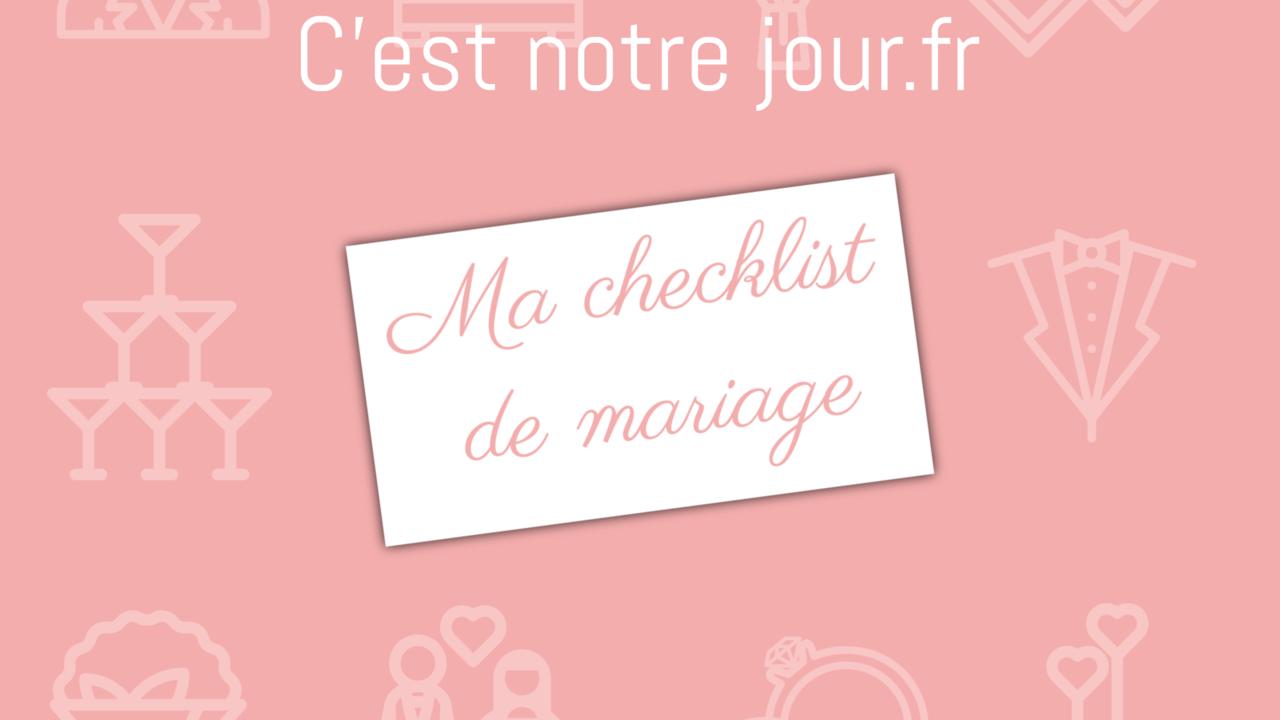 Ma checklist de mariage - Splash